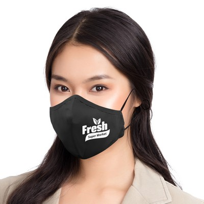 3 Ply Cotton Fitted Mask + Filter